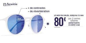 Maison Acuitis Montpellier annonce le Mois du Soleil jusqu'au 31 mai 2016.