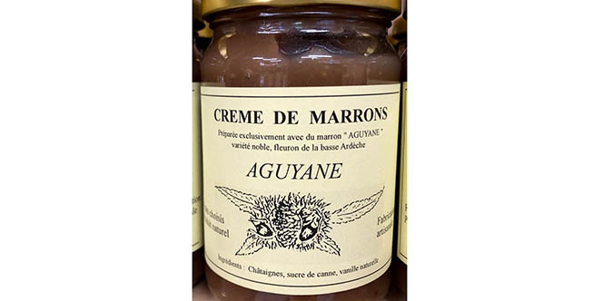 Maison Pourthié and Co vend de la crème de marrons dans sa boutique à Candillargues.