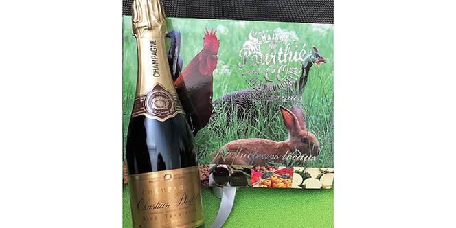 Maison Pourthié & Co propose sa Tombola de Noël et vous fait gagner une bouteille de Champagne et un chapon.