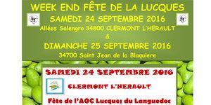 Olidoc Huilerie Clermont l'Hérault annonce la Fête de la Lucques samedi 24 septembre Clermont l'Hérault.