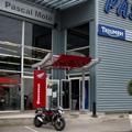 Pascal Moto Montpellier propose l'Opération Triumph qui permet de bénéficier d'un taux de financement avantageux pour l'achat d'une moto Triumph jusqu'au 31 décembre.