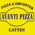 Logo de la Pizzeria Avanti Pizza au centre commercial d'Aragon de la ville de Lattes