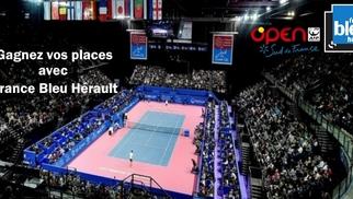 Places Open tennis Sud de France à gagner avec France Bleu Hérault jusqu'au 7 février 2017