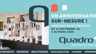 """Quadro Montpellier annonce """"Un anniversaire sur-mesure"""" avec des conditions exceptionnelles jusqu'au 3 octobre."""