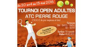 Tournoi Open de Tennis Montpellier à Pierre Rouge du 20 avril au 13 mai 2016.