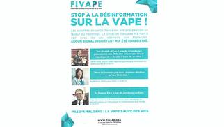 Vap'n'Style Montpellier Boutique de cigarettes électroniques à Odysseum diffuse un message de la FIVAPE.