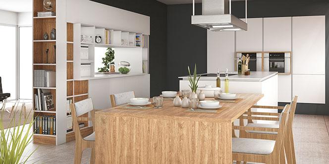 Quadro Montpellier spécialiste de l'aménagement intérieur réalise la cuisine de vos rêves sur mesure. (® site quadro)