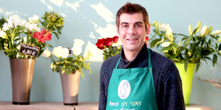 Aimer les sens des fleurs Fleuriste Montpellier à Port Marianne est dirigé par Marc Personnaz.(® SAAM-fabrice Chort)
