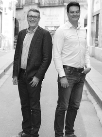 La lunetterie de l'Ecusson Montpellier Opticien créateur en centre-ville est animée par Jérôme Dumort et Jean-Vincent Fabre.(® SAAM-Fabrice Chort)