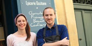 Saqueta Montpellier Restaurant avec une cuisine fait maison et épicerie fine avec des produits régionaux est géré par Julia et Adam en centre-ville.(® SAAM-Fabrice Chort)