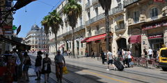 Rue Maguelone proche de la Gare St Roch au centre-ville de Montpellier (credits photos: NetWorld)