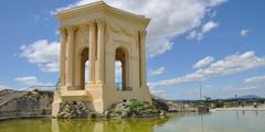 Château d'eau des Jardins du Peurou au centre-ville de Montpellier (credits photos: NetWorld)