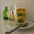 Recette Crumble d Asperges et Mimolette en verrines du restaurant Playfood