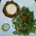 Tatin d'oignon doux des Cévennes confit du restaurant L'Alzon de Montoulieu