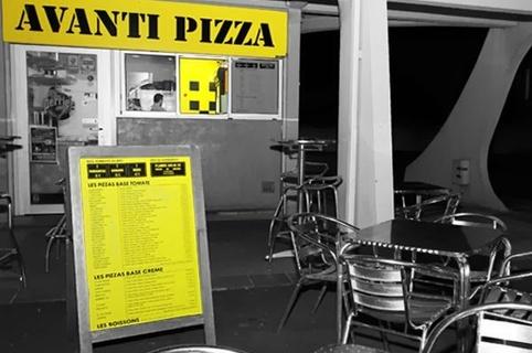 Devanture de la pizzeria Avanti Pizza au centre commercial d'Aragon dans la ville de Lattes (credits photos: EDV-Fabrice Chort)