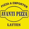 Logo de la Pizzeria Avanti Pizza dans la ville de Lattes au centre commercial d'Aragon