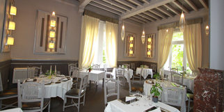 Le restaurant le Mazerand Lattes propose des tables dans de magnifiques salles et en terrasse dans le parc pour les beaux jours (® networld-fabrice chort)