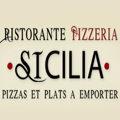 Logo de la Pizzeria Sicilia au bas de la rue du Pila Saint Gély au centre-ville de Montpellier