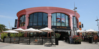 Au Bureau Montpellier restaurant face au Gaumont Multiplexe dans le quartier Odysseum (® SAAM-Fabrice Chort)