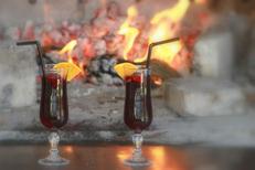 Ambiance et Grillades au feu de bois du restaurant La Diligence sur l'avenue de Lodève de Saint André de Sangonis (credits photos :EDV-Fabrice Chort)