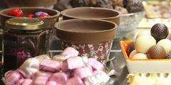 Gourmandises dans la boutique Corné Dynastie Chocolatier de Montpellier (® networld-Fabrice Chort)